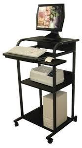 metal computer desks workstations classy design stand up computer desk workstation mobile adjustable