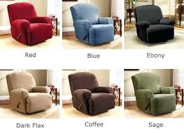 reclining chair cover furniture covers with pockets reclining
