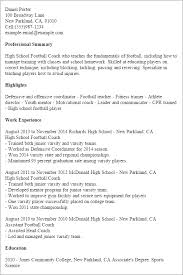 Career Coach Resume Sample by Professional High Football Coach Templates To Showcase Your