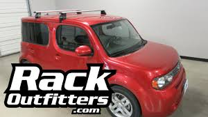 cube cars honda nissan cube with rhino rack vortex 2500 roof rack crossbars youtube