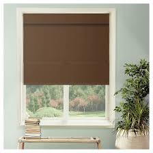 cordless magnetic roman shades mountain chocolate chicology