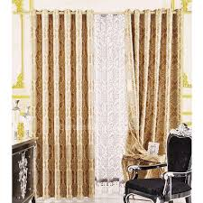 Gold And White Curtains Cheap Bedroom Thermal Gold Jacquard Curtains