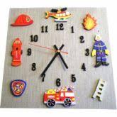 decoration chambre pompier plaque de porte garçon camion de pompier billes de clowns