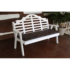 Garden Bench With Cushion 6 Foot Swing Bench Glider Cushion