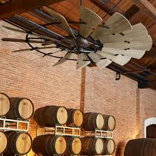 large rustic ceiling fans 60 rustic windmill ceiling fan shades of light