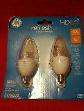 ge hd light refresh ge 68761 refresh hd dimmable bm shape led light bulb clear 300 lm 4w