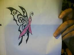 breast cancer butterfly tattoos ideas