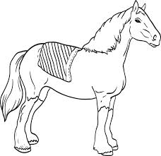 free printable clydesdale coloring kids