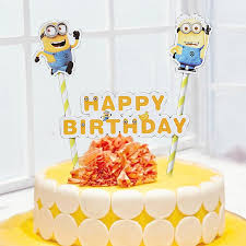 minion baby shower decorations aliexpress buy birthday cake topper decoration for kids
