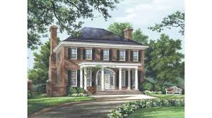 federal style house plans home plan homepw26779 3280 square foot 4 bedroom 4 bathroom