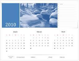Excel 2010 Calendar Template 2010 Calendar Templates For Microsoft Office 2007 2003