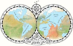 map world seas map of the seven seas the voyages of the merry mariner free
