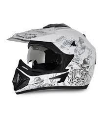 vega motocross helmets vega helmet off road sketched white base with silver graphics