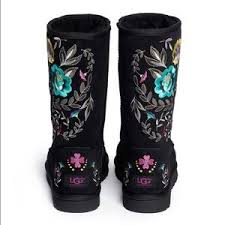 womens ugg juliette boot 67 ugg shoes ugg juliette black embroidered boots from