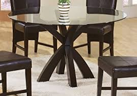 casual dining room tables amazon com coaster home furnishings 101071 casual dining table