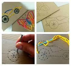 sewing cards templates diy easy stitch cards for children easy stitch motor skills and
