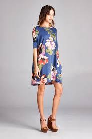 shift dress new fab tropical floral knee length shift dress aspen creek clothing