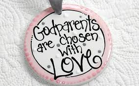 sided personalized godparent ornament in pink