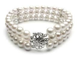 pearls bracelet images Triple strand white akoya pearl bracelet 6 5 7mm aaa pearl jpg