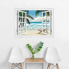tropical faux window mural tropical window mural