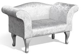 Bedroom Chairs Uk Only Silver Crushed Velvet Bedroom Chaise Longue Bedroom Chair Sleep