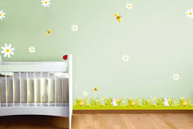 frise chambre bebe ds136 10 stickers marguerites deco sticker mural