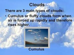 3 kinds of clouds clouds and weather prediction ppt