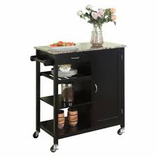 kitchen storage cabinet cart food 4 less pilaster designs black finish wood marble