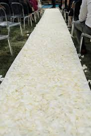ivory aisle runner beautiful ways to decorate your ceremony aisle by