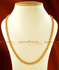 long gold ball necklace images Ckmn18 gold plated traditional kerala imitation chain ball design jpg