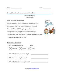 1st grade reading worksheets u2013 wallpapercraft