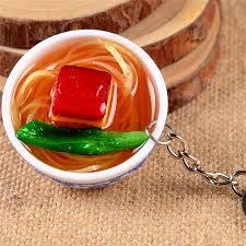 simulation 3d cuisine 1 pc mini simulation food key chains 3d bowl food 17 designs