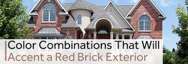 color combinations that will accent a red brick exterior