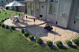 Backyard Concrete Patio Ideas by Biondo Cement Stamped Concrete Exposed Aggregate Concrete