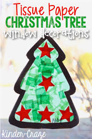 tissue paper tree craft window decorations