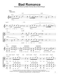 Lady Gaga Bad Romance Bad Romance Sheet Music By Lady Gaga Voice U2013 183137