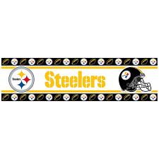 Pittsburgh Steelers Comforter Pittsburgh Steelers Nfl Wall Paper Border Steel City Fan Club