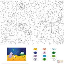 cute dragon color by number coloring pages free printable pictures