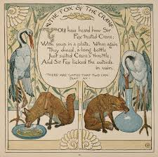 15 the fox and the crane baby u0027s own aesop walter crane