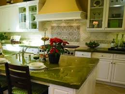 green and white kitchen ideas white cabinets with green island and countertops designs ideas