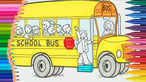 bus coloring page little hands coloring book youtube