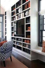 Built In Wall Units For Living Rooms by Built In Media Center Transitional Living Room Domaine Home