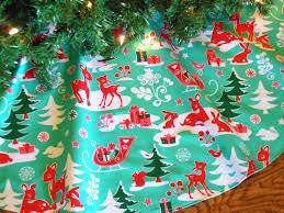 christmas tree skirt aqua and red tree skirt by kaysgeneralstore