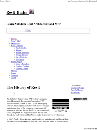 history of revit autodesk revit autodesk