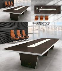 Boardroom Meeting Table Customized 50mm Thickness Modern Design Boardroom Meeting Table