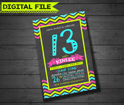 invitations for 13th birthday party neon birthday party invitations cimvitation