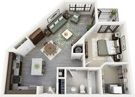 appartement 1 chambre 50 plans en 3d d appartement avec 1 chambres tiny houses house