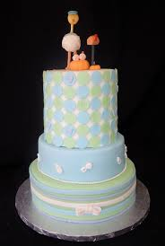 cake fiction stork and pumpkin twins baby shower cake