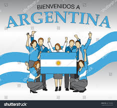 The Flag In Spanish Bienvenidos Argentina Welcome Argentina Spanish Language Stock
