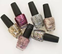opi spotlight on glitter collection swatches and review nail